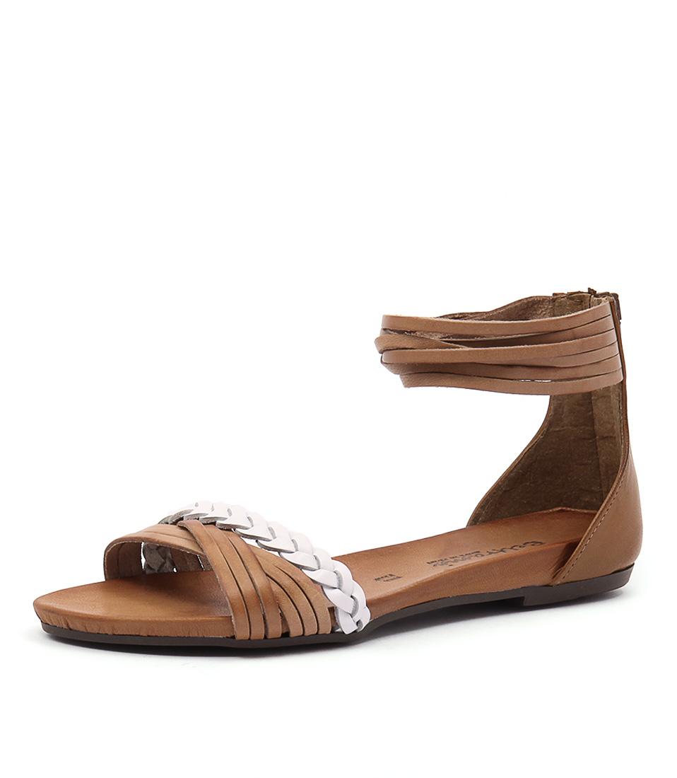 Beltrami Samantha Cuoio-Bianco Sandals