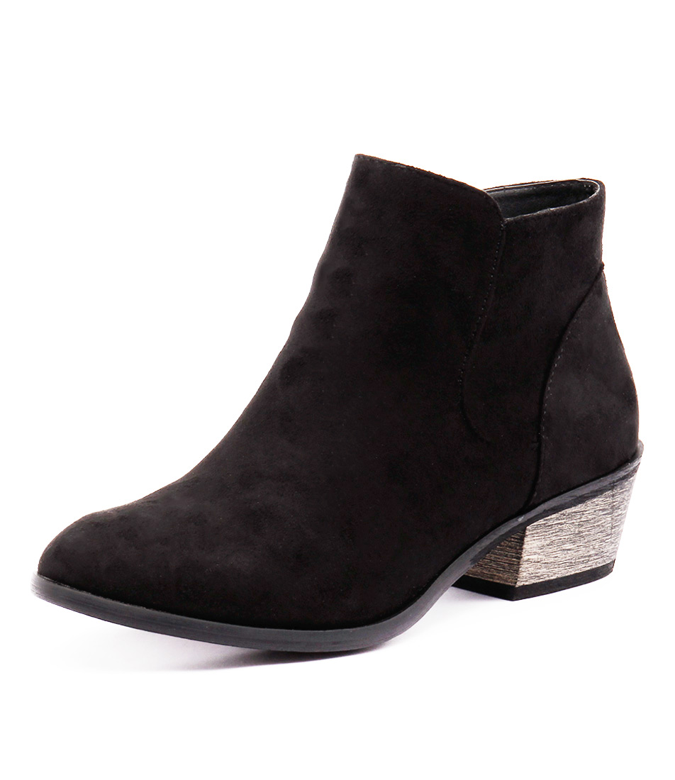 Billini Haven Black Micro Suede Boots