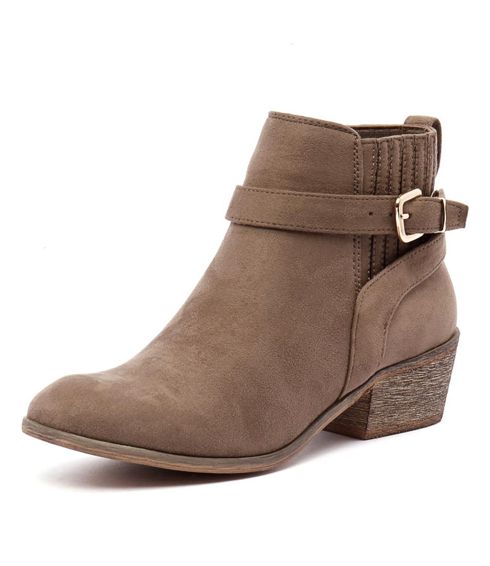 Billini Hesta Taupe Micro Suede Boots
