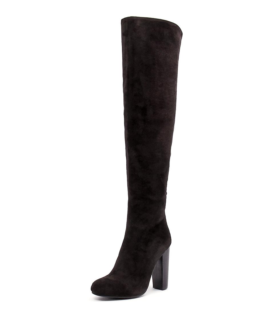Billini Evan Black Micro Suede Boots