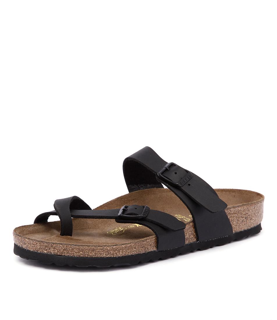 Birkenstock Mayari Black Birko-Flor Sandals