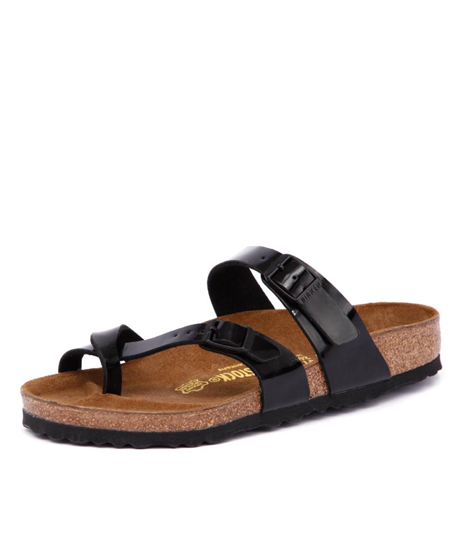 Birkenstock Mayari Patent Black Birko-Flor Sandals