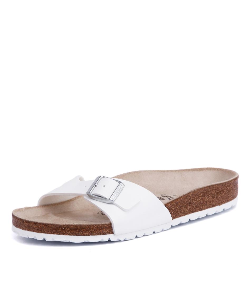 Birkenstock Madrid White Birko-Flor Sandals