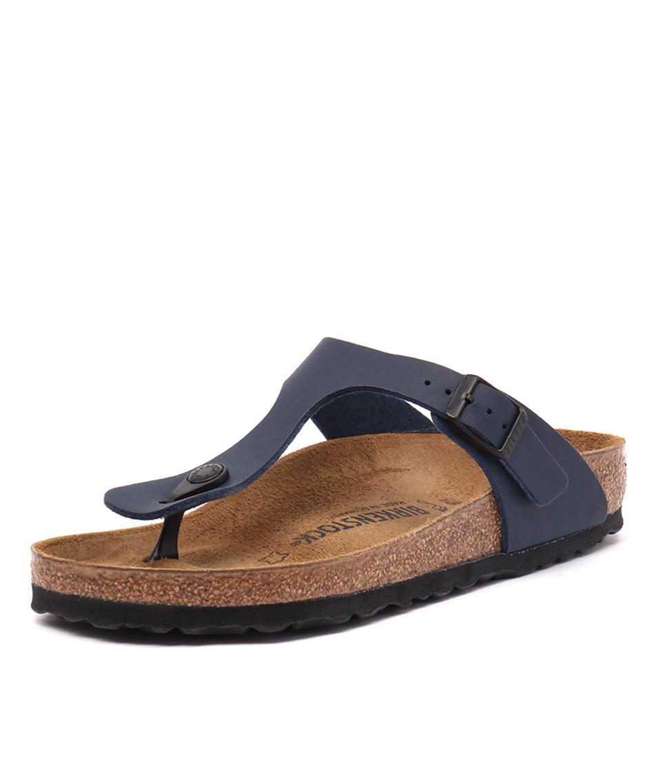 Birkenstock Gizeh Blue Birko-Flor Sandals