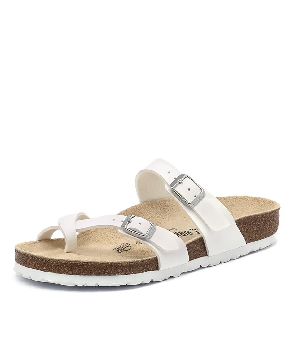 Birkenstock Mayari White Birko-Flor Sandals