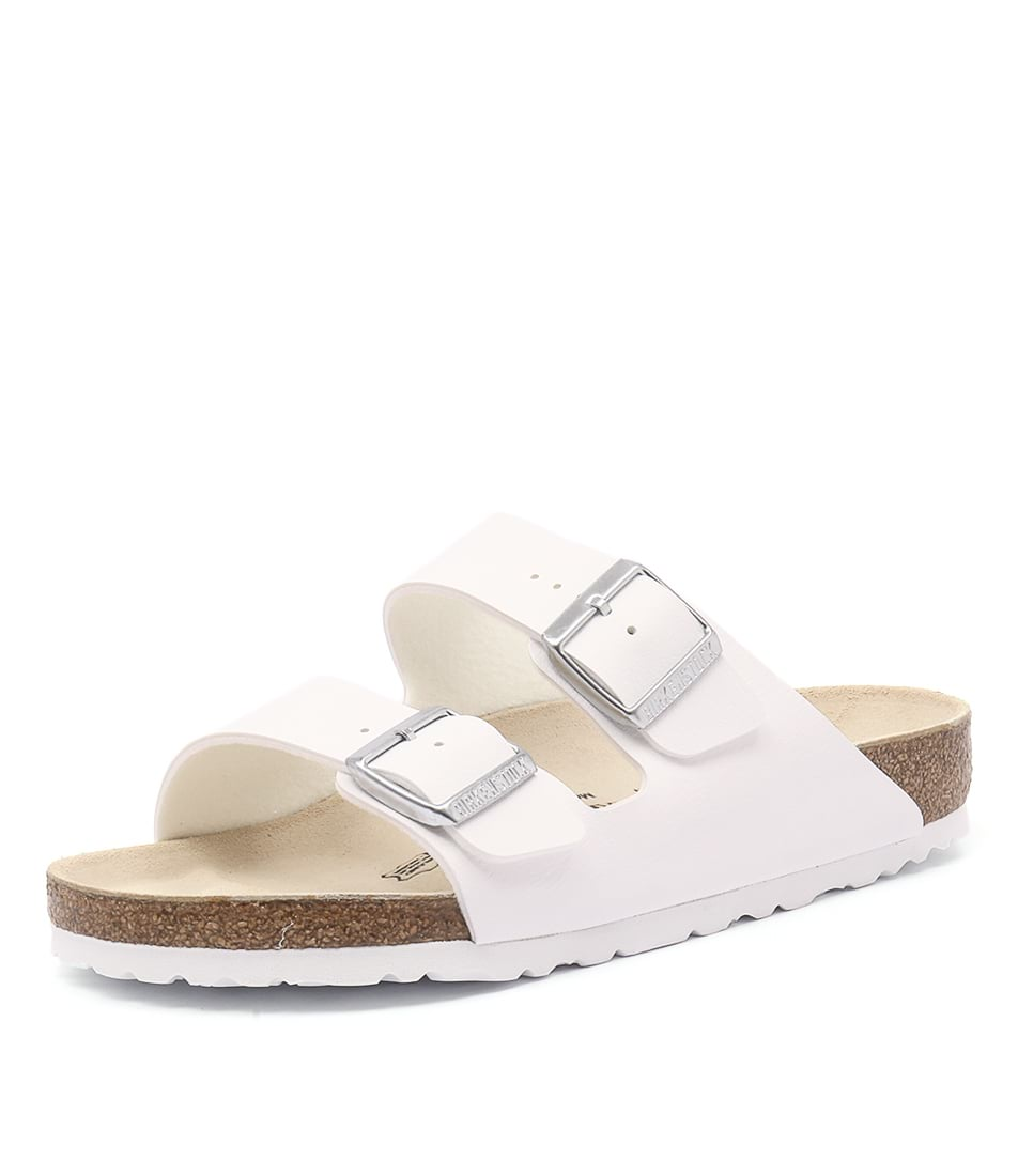 Birkenstock Arizona White Birko-Flor Sandals