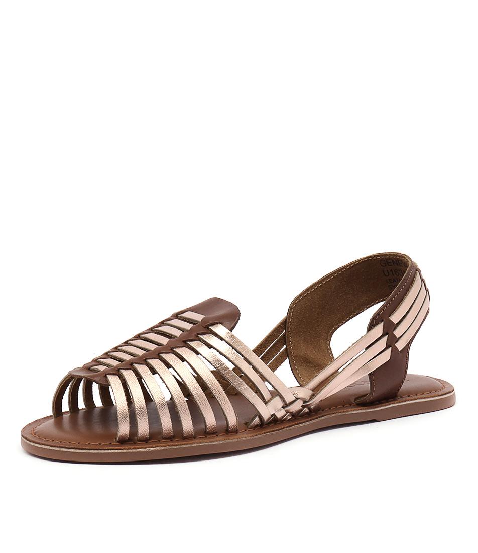 Bonbons Geneva Rose Gold Multi Sandals