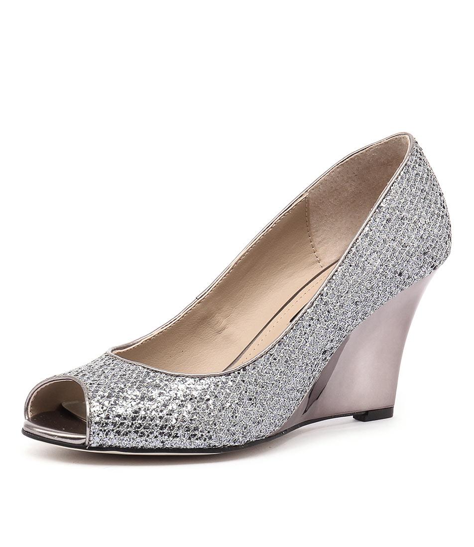 Diana Ferrari Saydie Gunmetal Sparkle Shoes