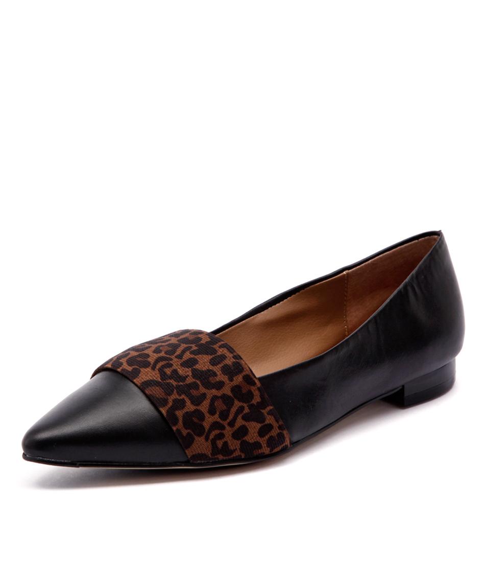 Diana Ferrari Carousel Black-Leopard Shoes