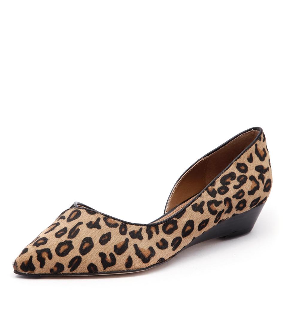 Diana Ferrari Prance Tan-Black Leopard Dress Pumps
