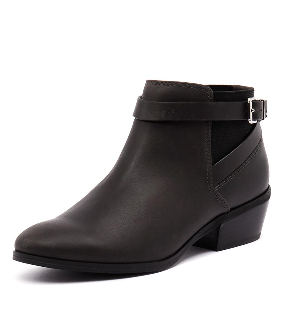 Diana Ferrari Gavel Black Waxy Boots