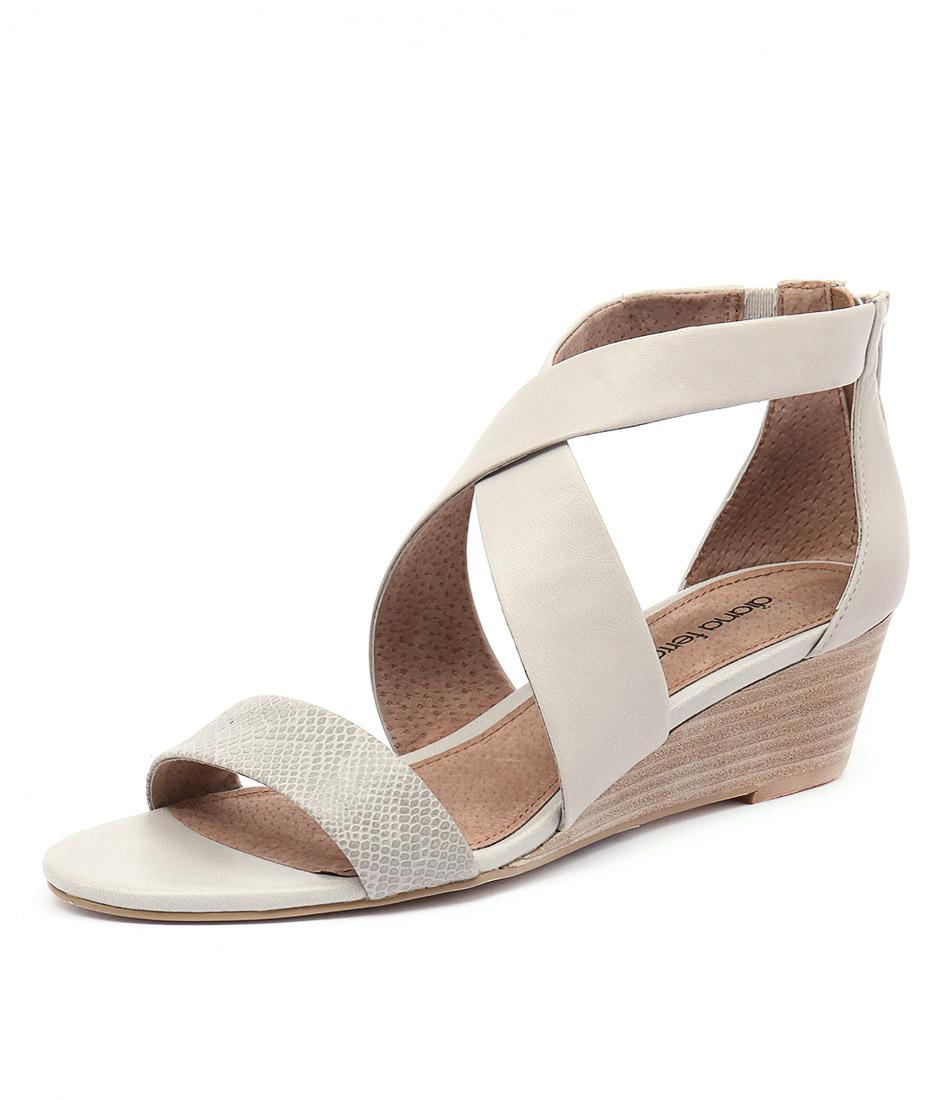Diana Ferrari Jeune Embossed-Stone Sandals