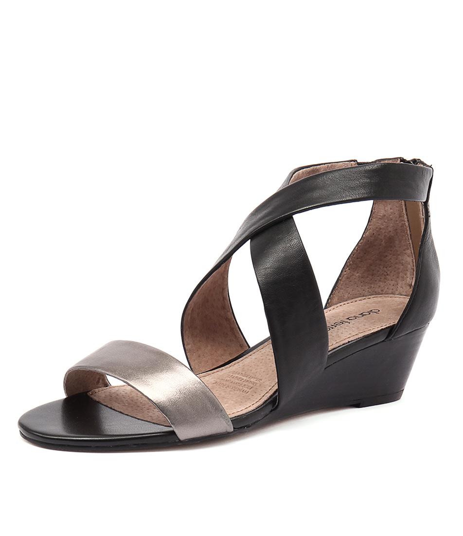 Diana Ferrari Jeune Gunmetal-Black Sandals