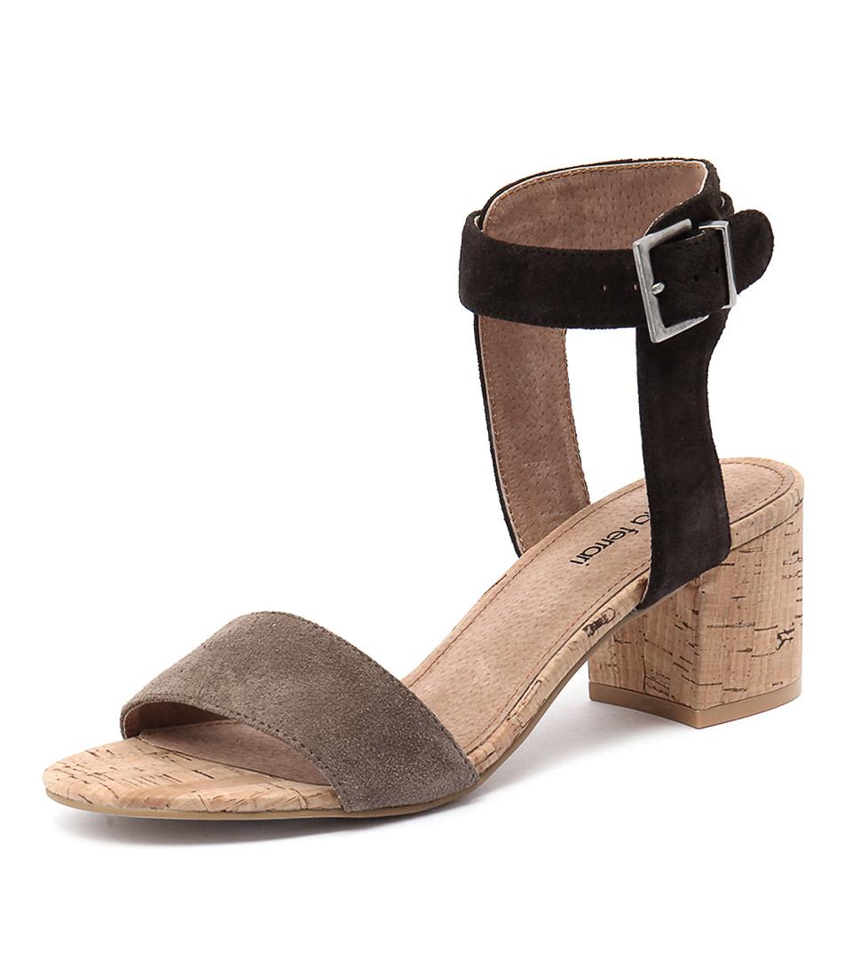Diana Ferrari Amalia Brown Suede Sandals