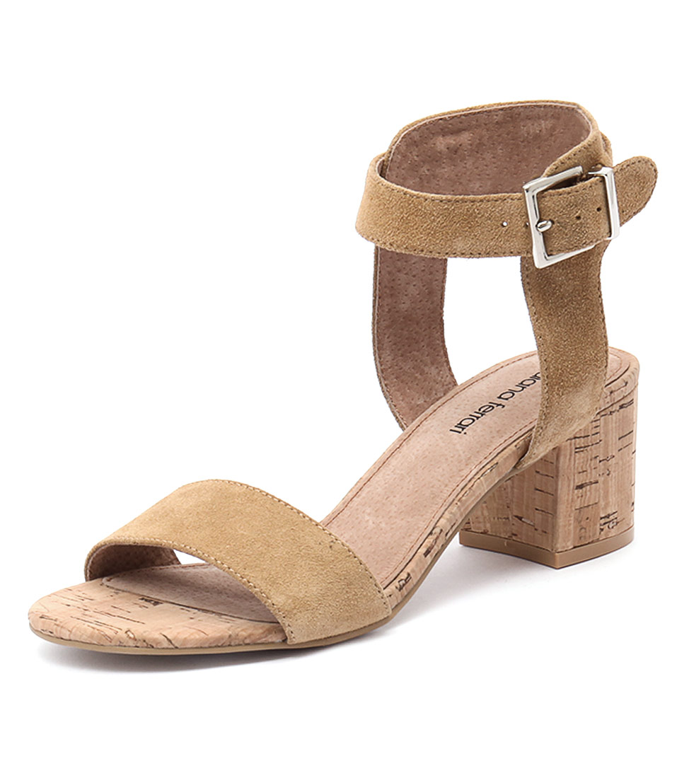 Diana Ferrari Amalia Light Tan Suede Sandals