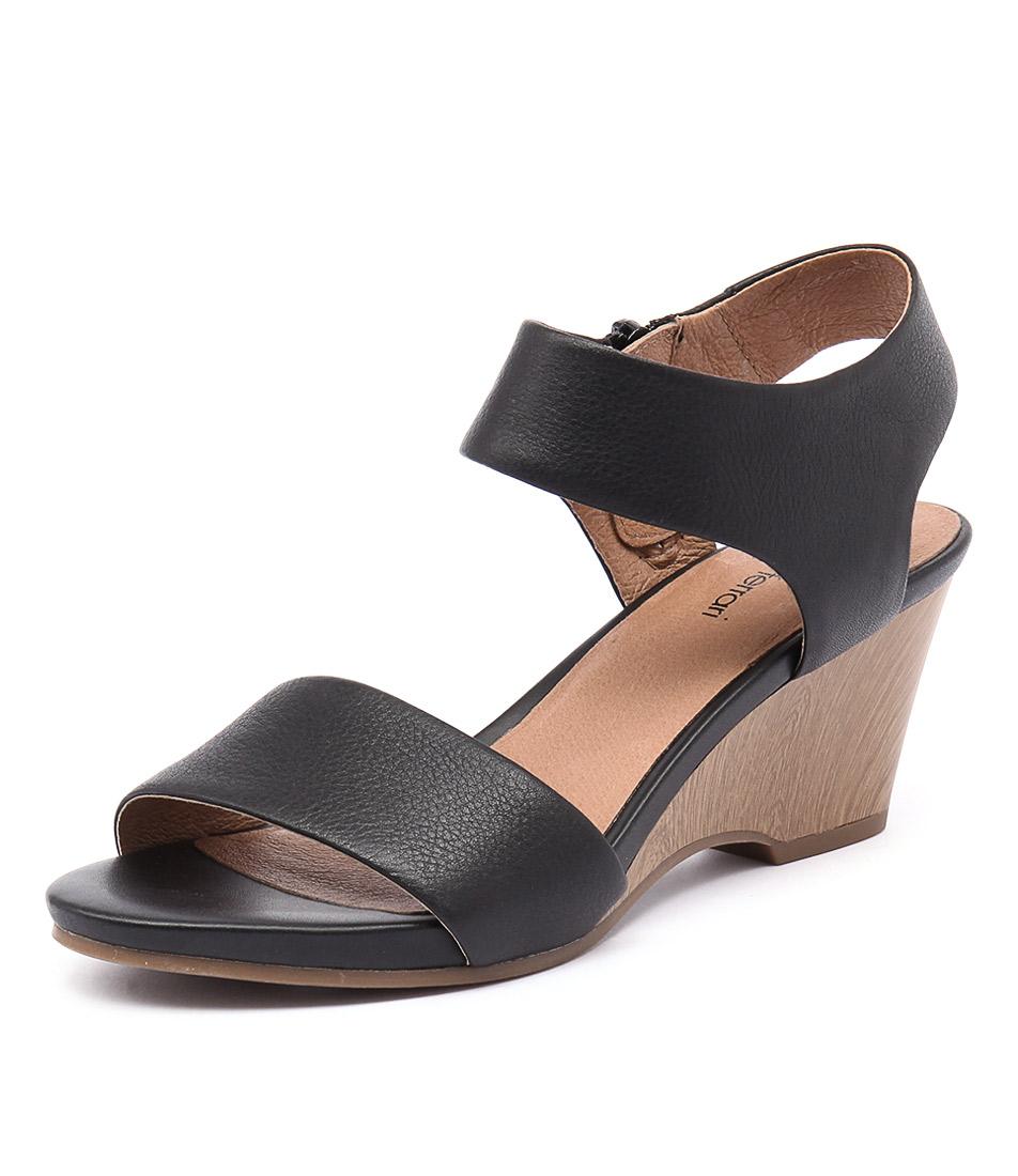 Diana Ferrari Zeah Black Sandals
