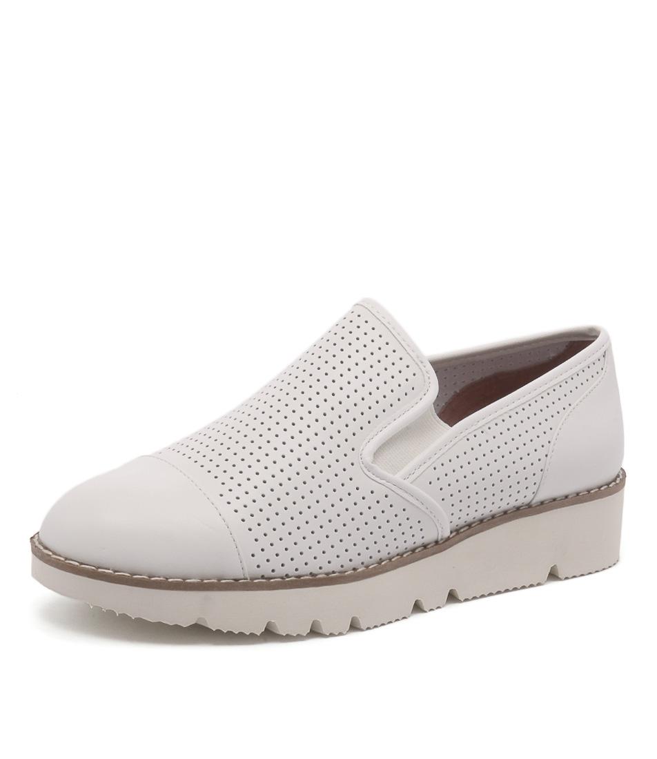Diana Ferrari Balance White Loafers & Slip-Ons