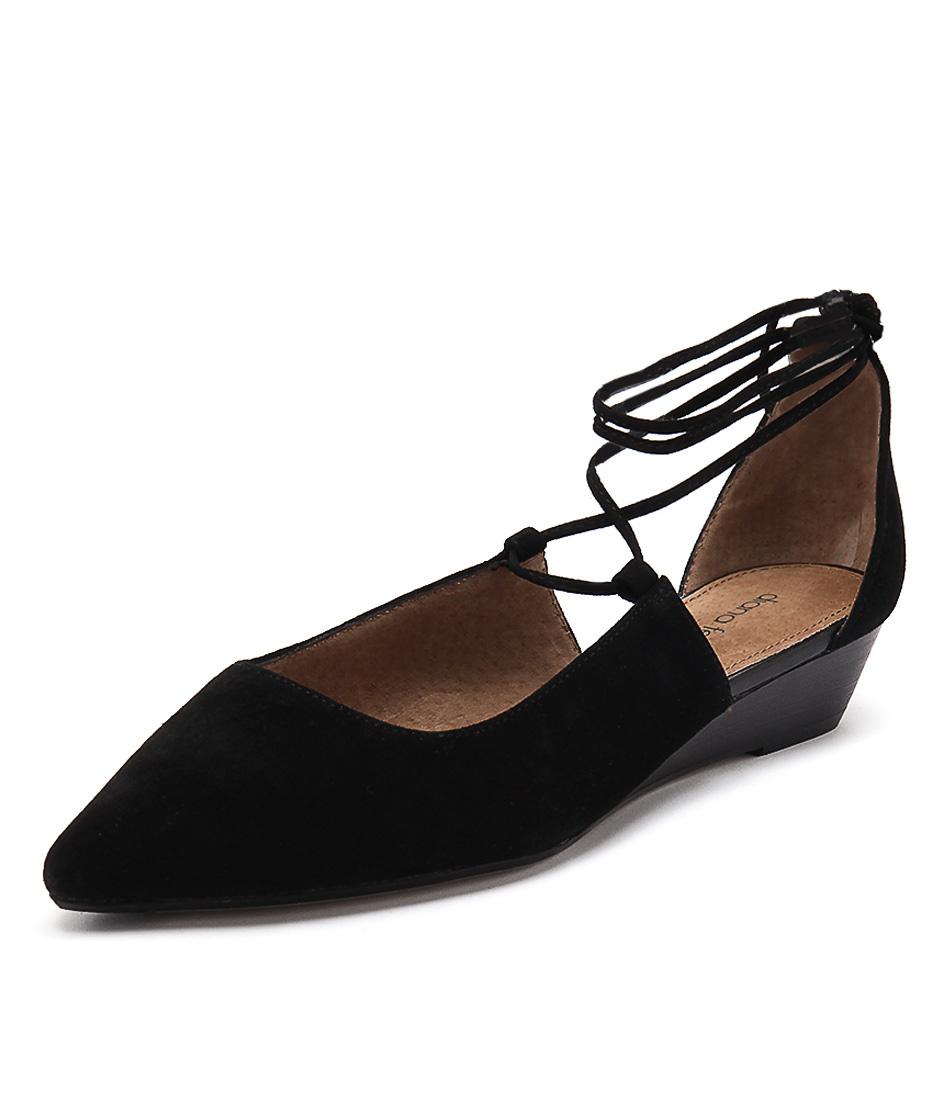 Diana Ferrari Prague Black Suede Dress Pumps