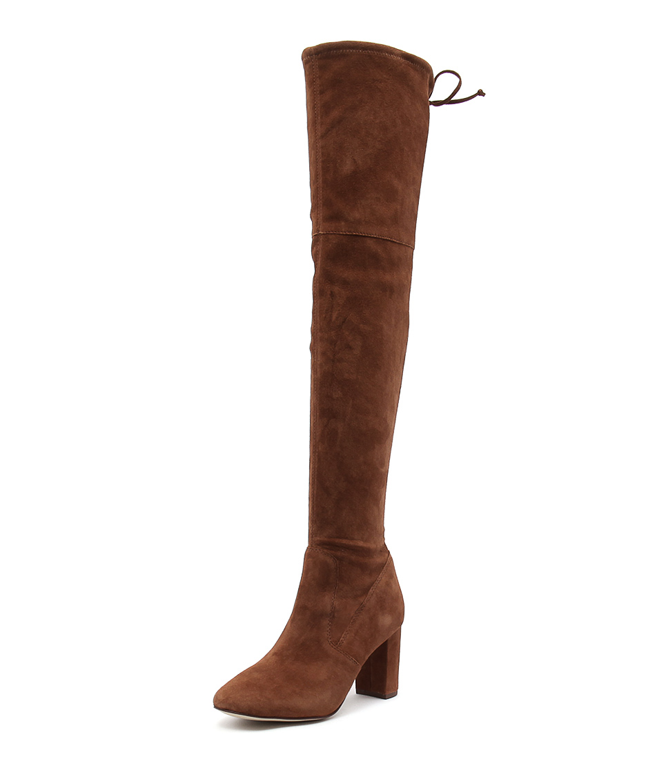 Diana Ferrari Egyptian Tan Stretch Suede Boots