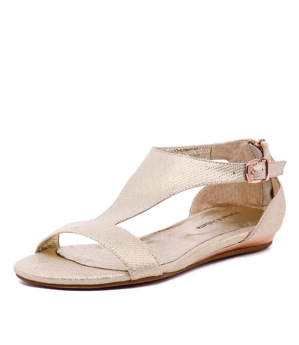 Django & Juliette Kamanda Champagne Sandals online
