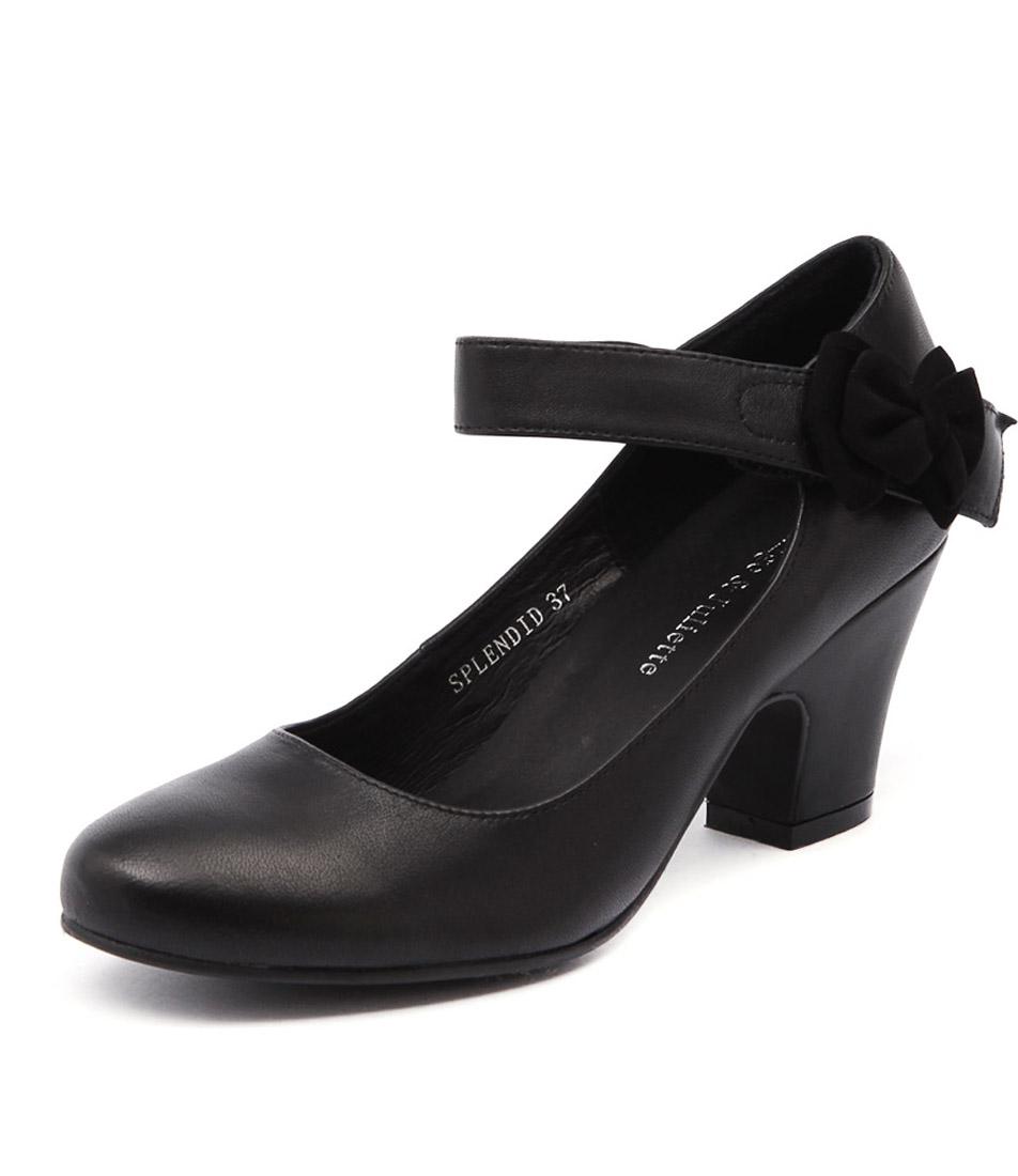 Django & Juliette Splendid Black Leather Dress Pumps
