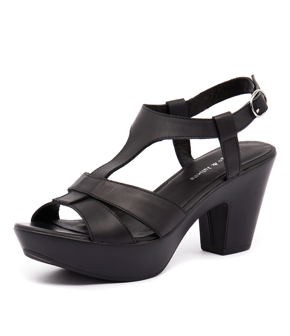 Django & Juliette Wisha Black Sandals online