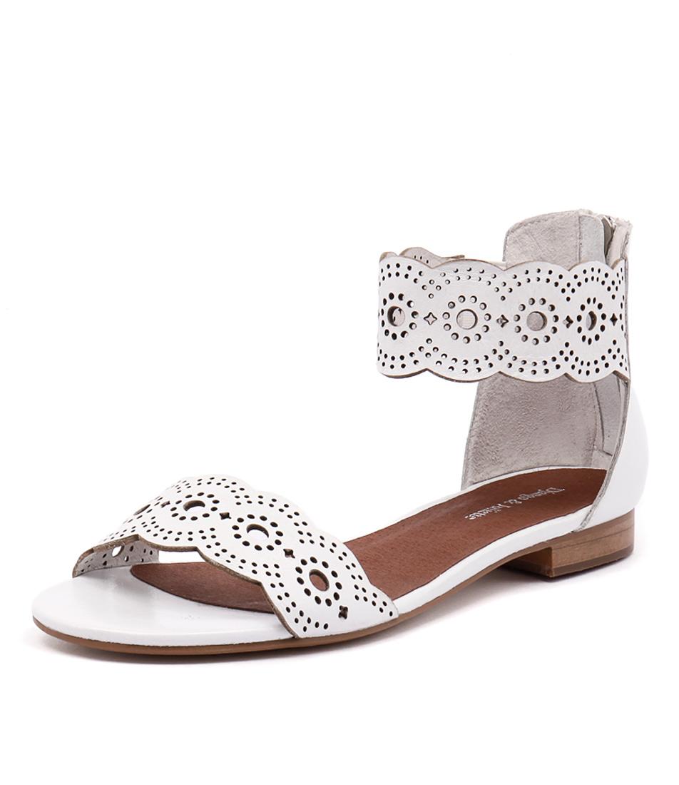 Django & Juliette Palatie White Sandals online