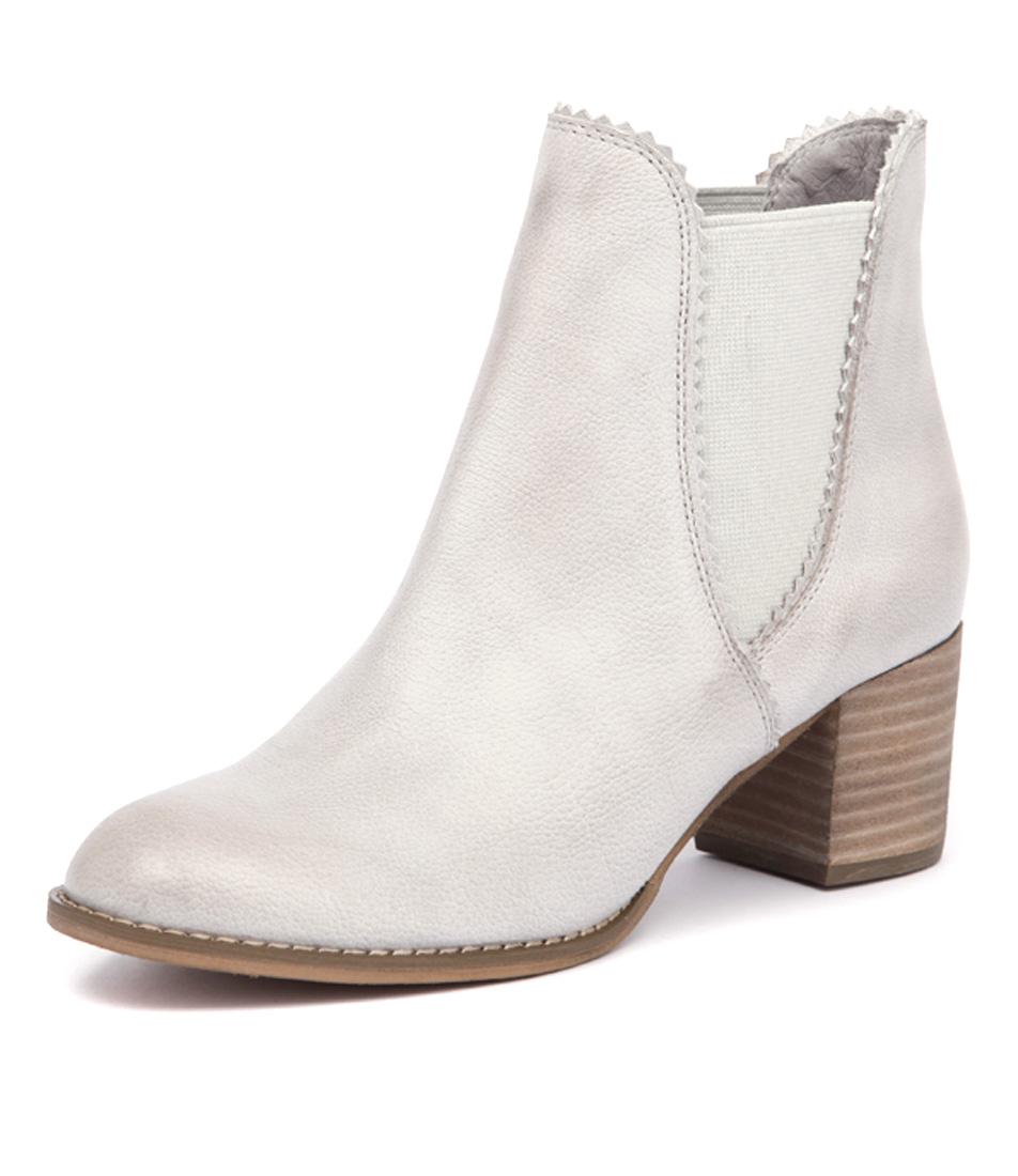 Django & Juliette Sadore Misty Light Grey Leather Boots