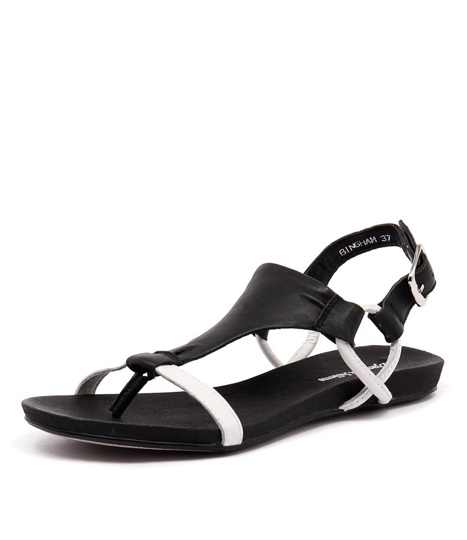 Django & Juliette Bingham White-Black Sandals