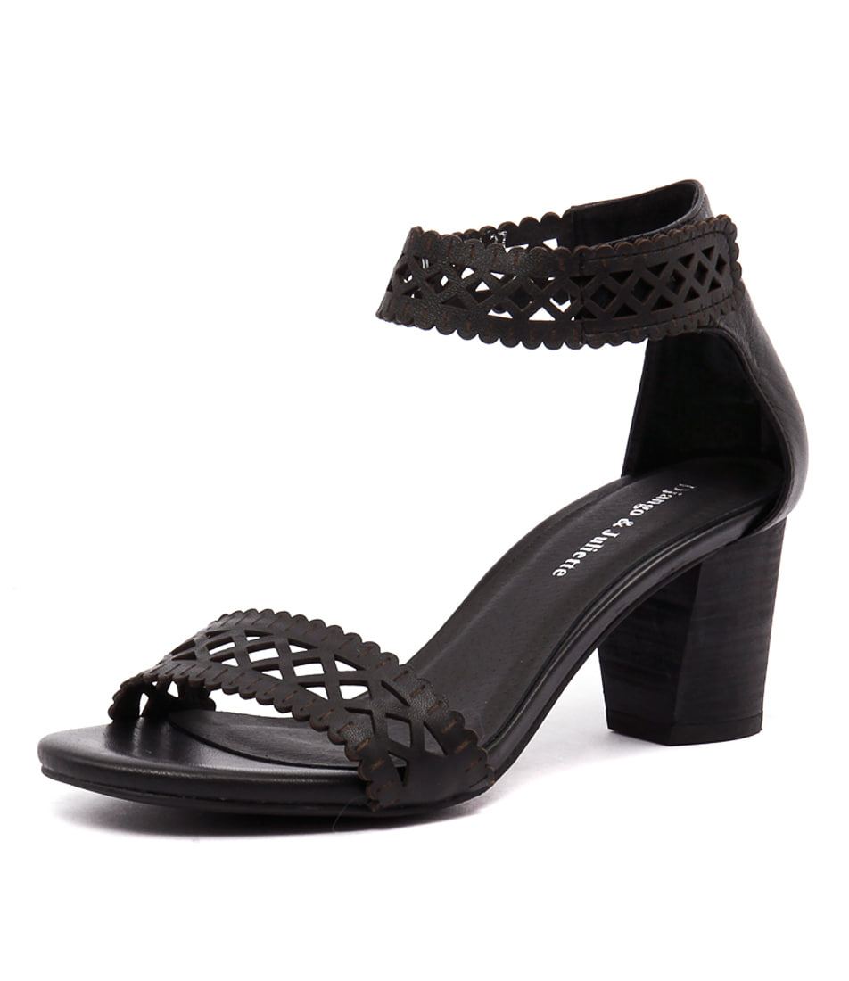 Django & Juliette Cajun Black Laser Cut Sandals online