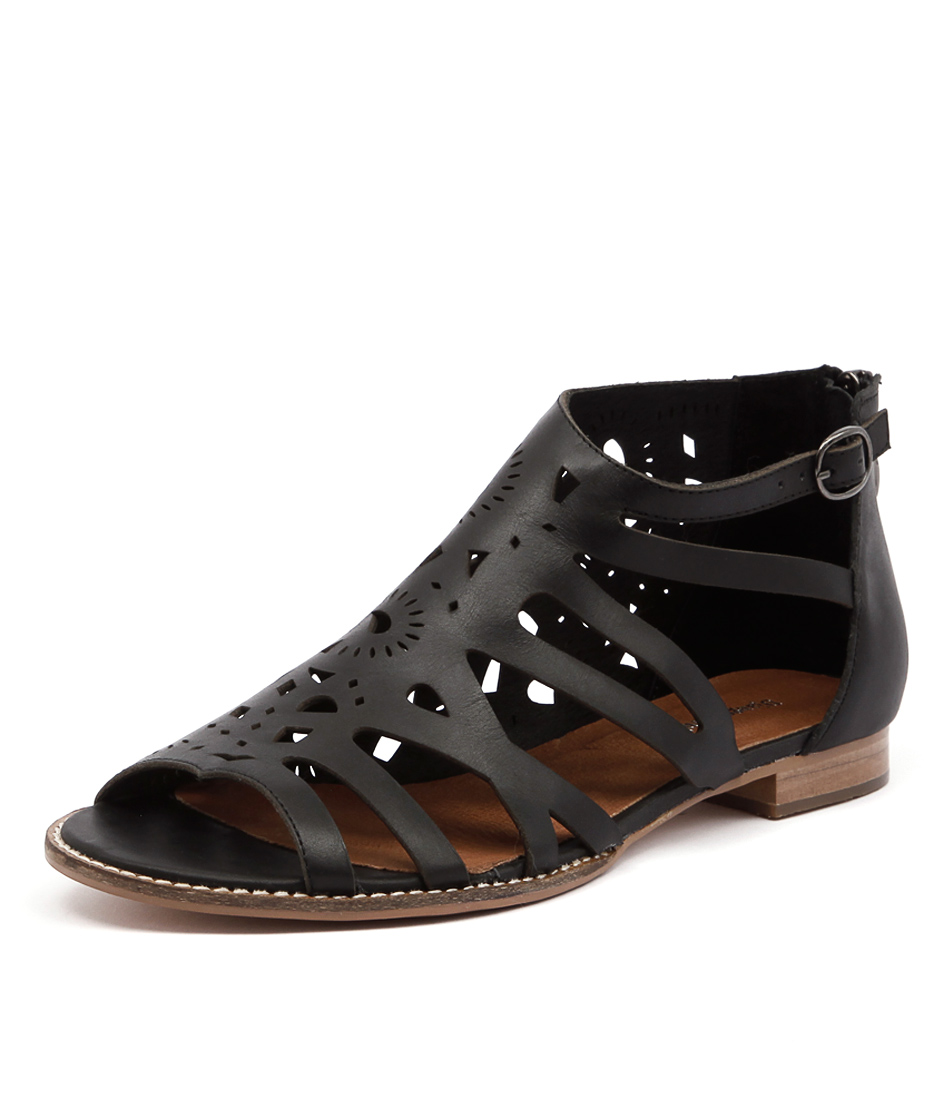 Django & Juliette Radar Black Sandals