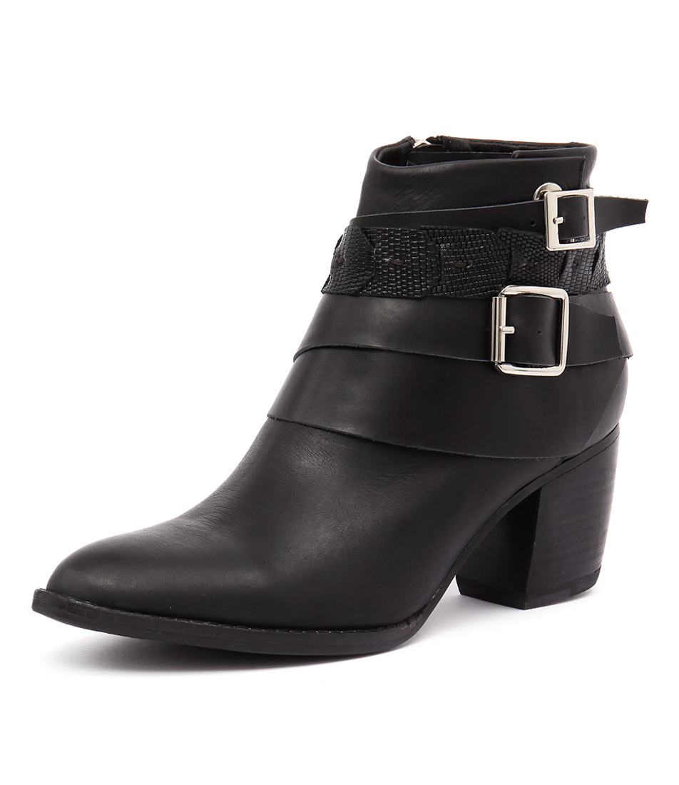 Django & Juliette Bree Black Mix Boots