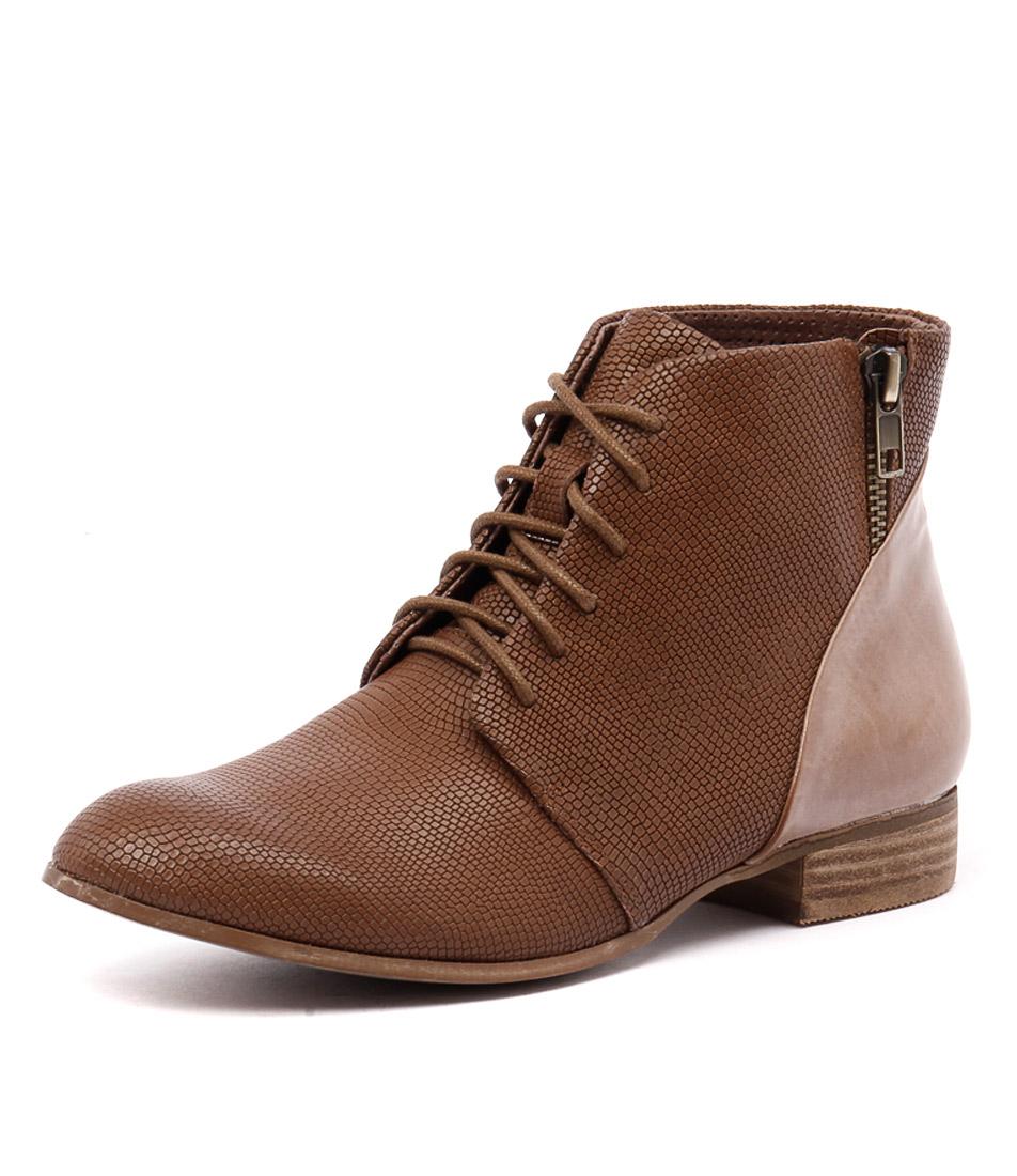 Django & Juliette Fables Tan Print-Mocca Boots