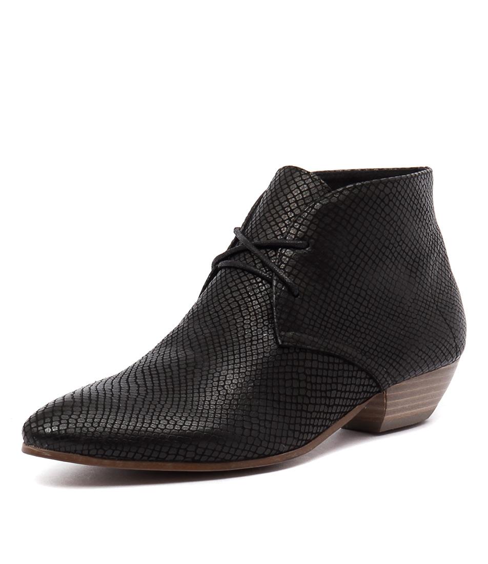 Django & Juliette Jacky Black Print Boots online