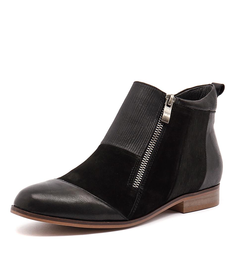 Django & Juliette Pooli Black Mix Boots online