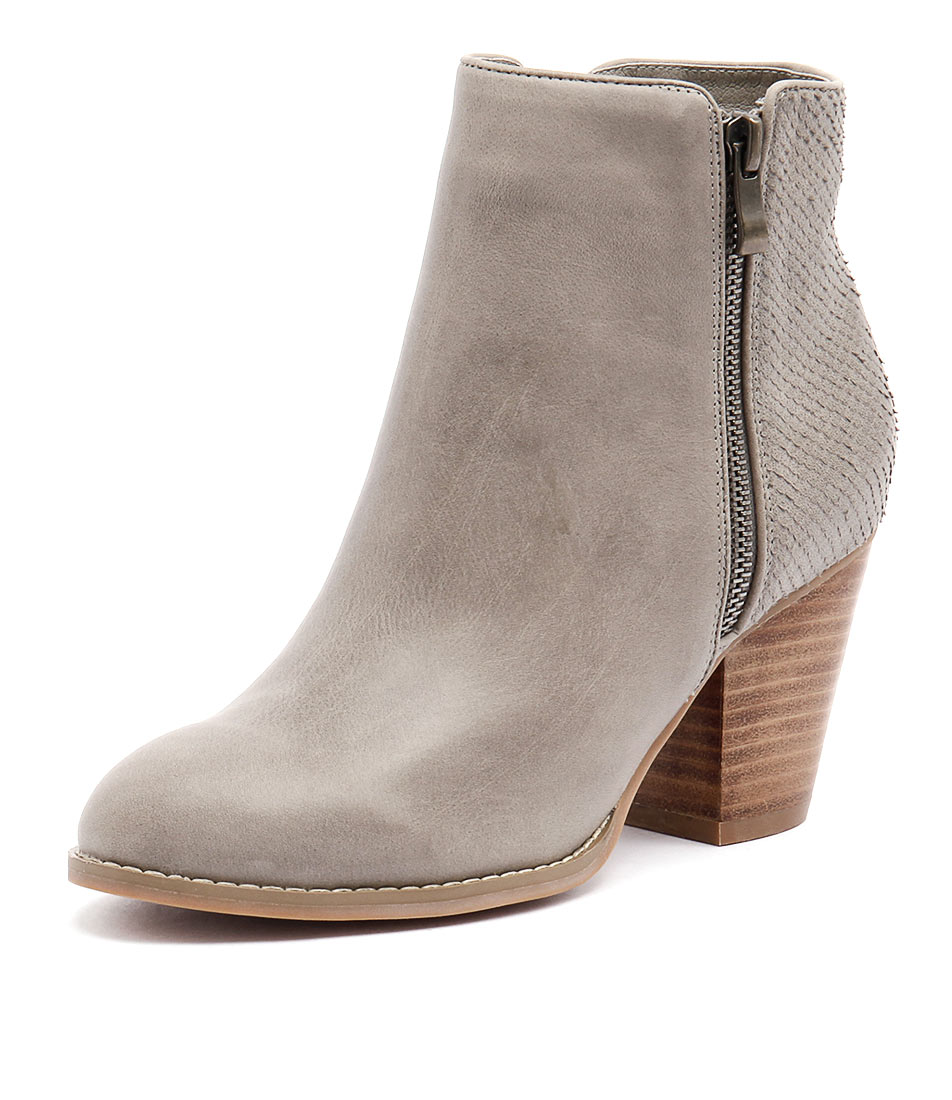 Django & Juliette Roby Charcoal Leather Boots
