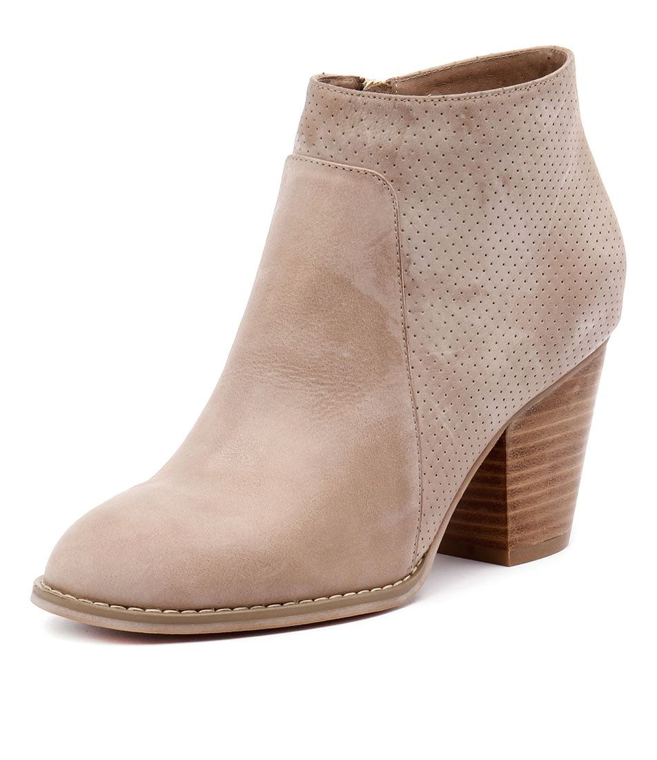 Django & Juliette Remote Taupe Leather-Taupe Pinpunch Boots online