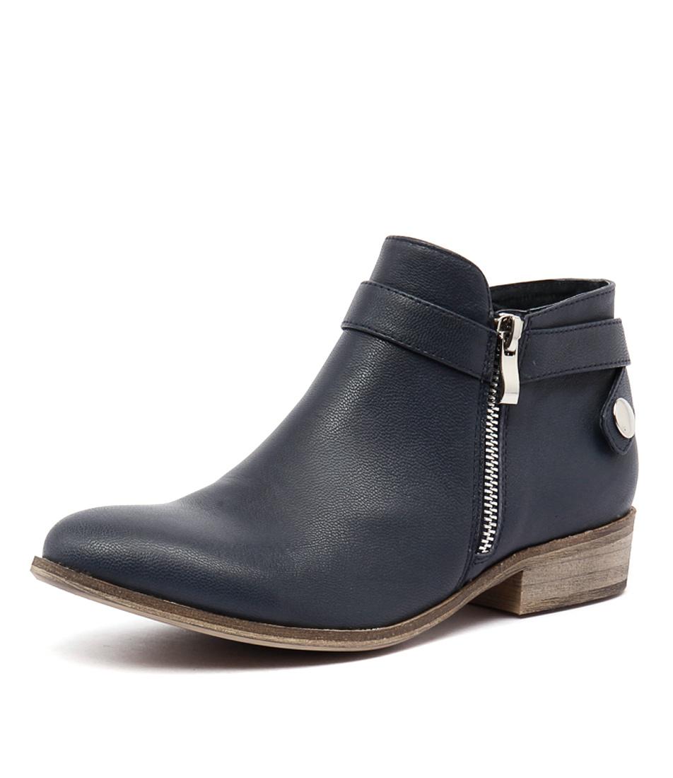Django & Juliette Spiller Navy Boots online