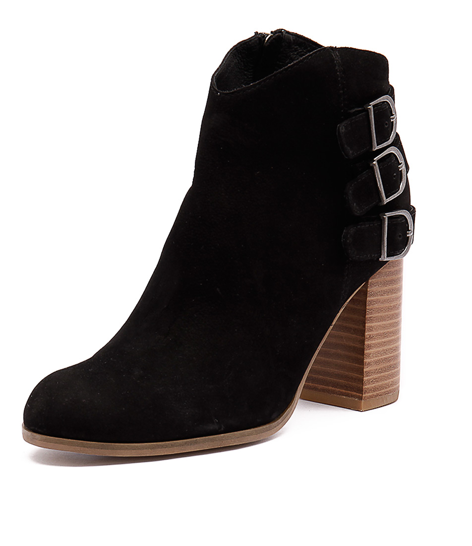 Django & Juliette Sensato Black Leather-Nubuck Boots