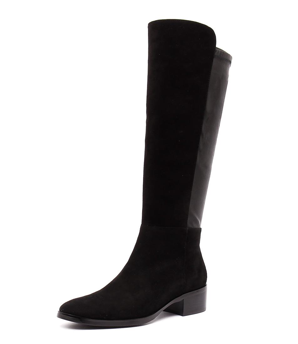 Django & Juliette Tetley Black Suede Boots online
