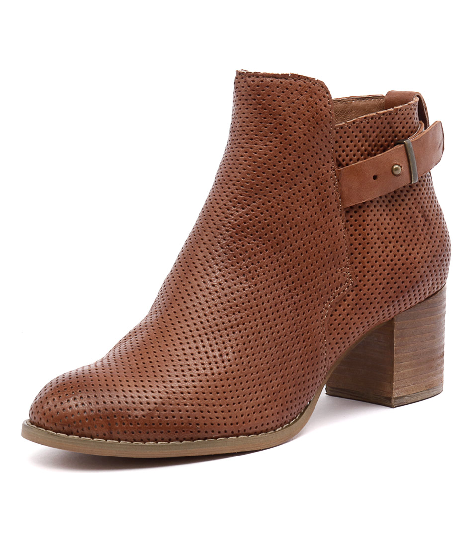 Django & Juliette Satyrs Tan Punch Leather Boots online