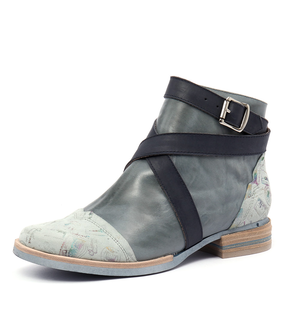 Django & Juliette Cargo Blue Multi Boots