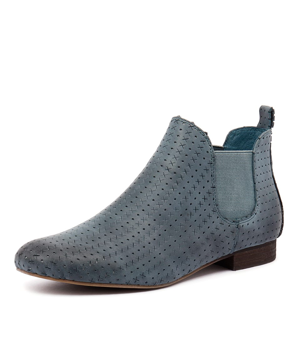 Django & Juliette Genius Denim Punch Boots