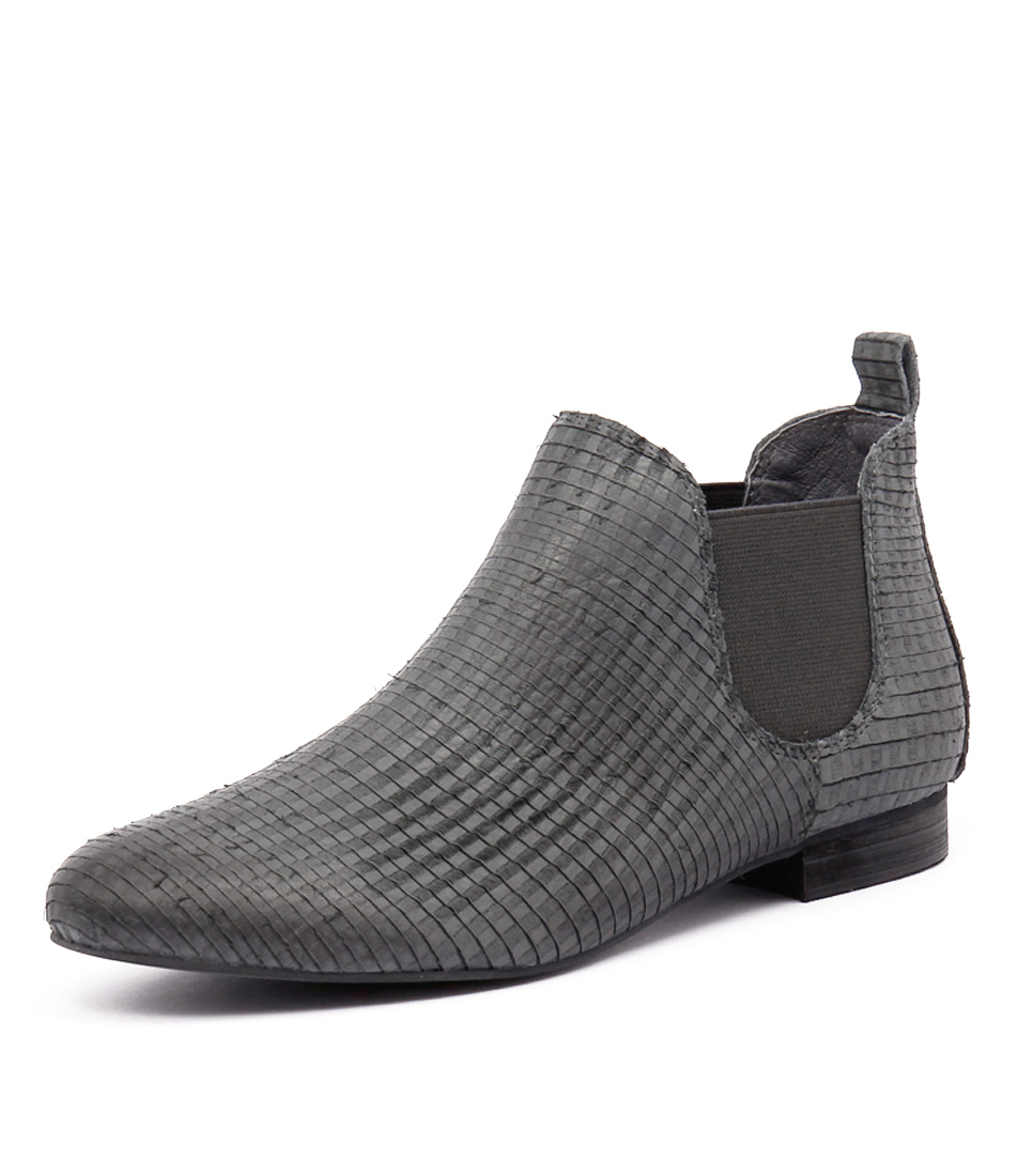 Django & Juliette Glenvalia Grey Cut Leather Boots