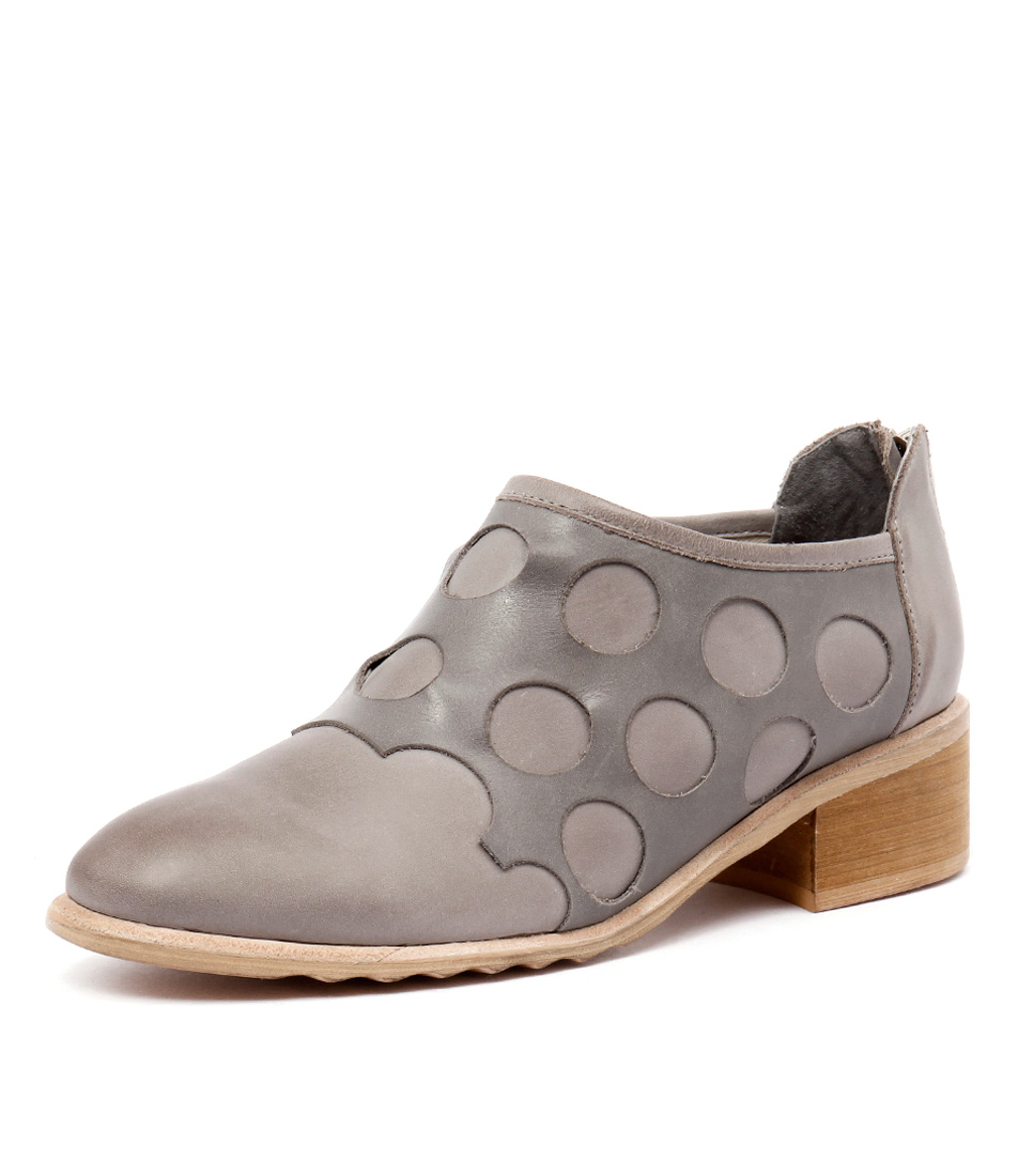 Django & Juliette Pictone Grey-Dark Grey Leather Boots online