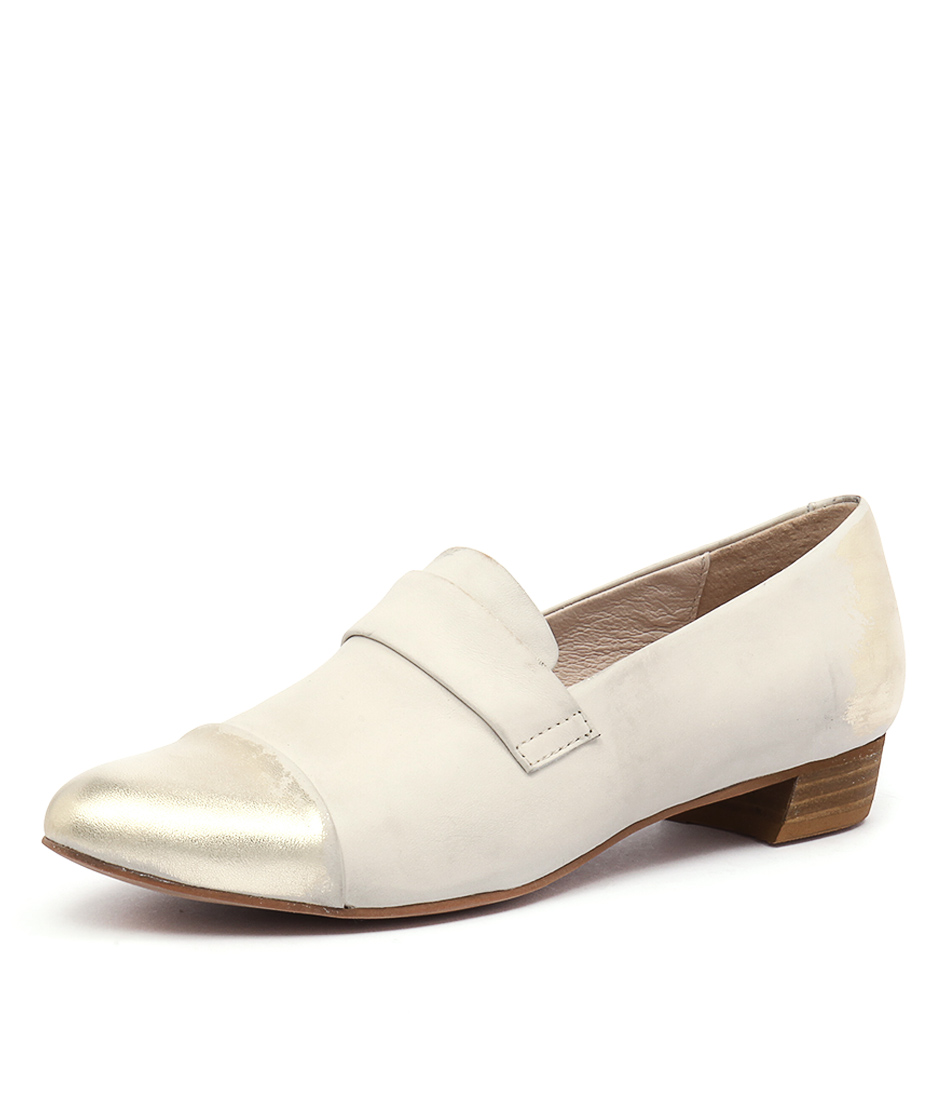 Django & Juliette Ebron Beige-Gold Loafers