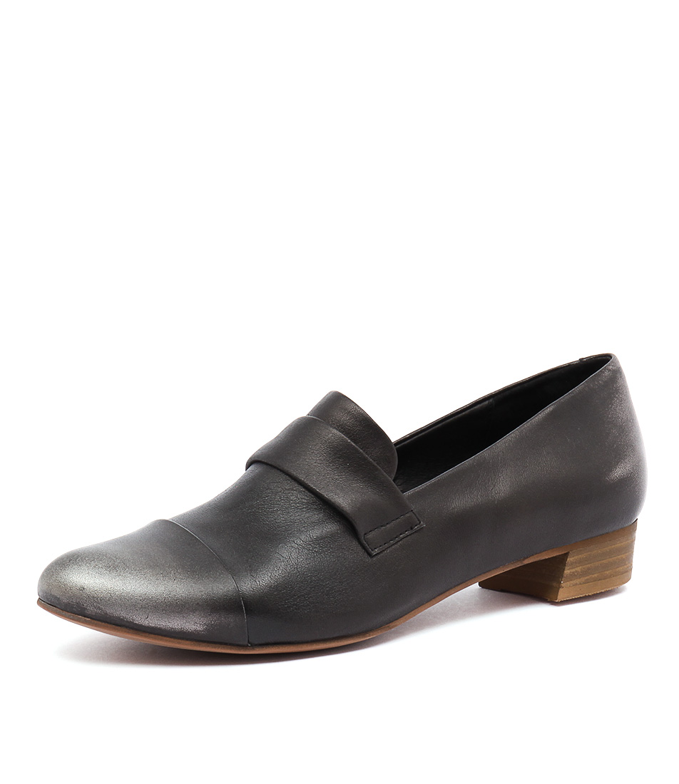 Django & Juliette Ebron Black-Pewter Loafers