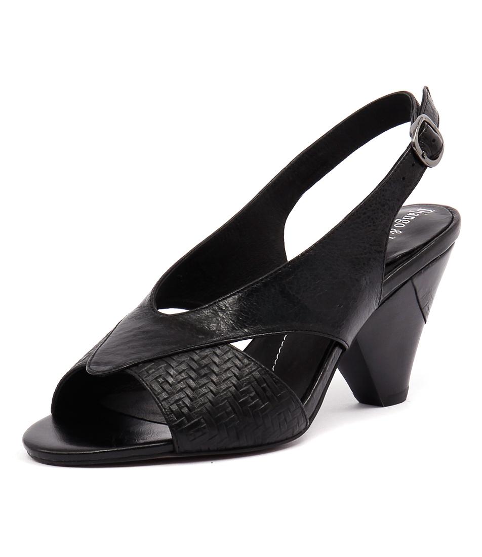 Django & Juliette Xcell Black Weave-Black Sandals online