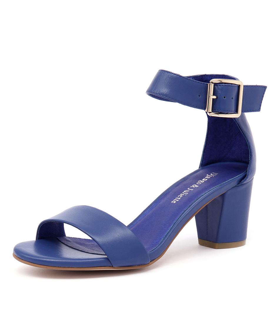 Django & Juliette Cassier Cobalt Leather Sandals