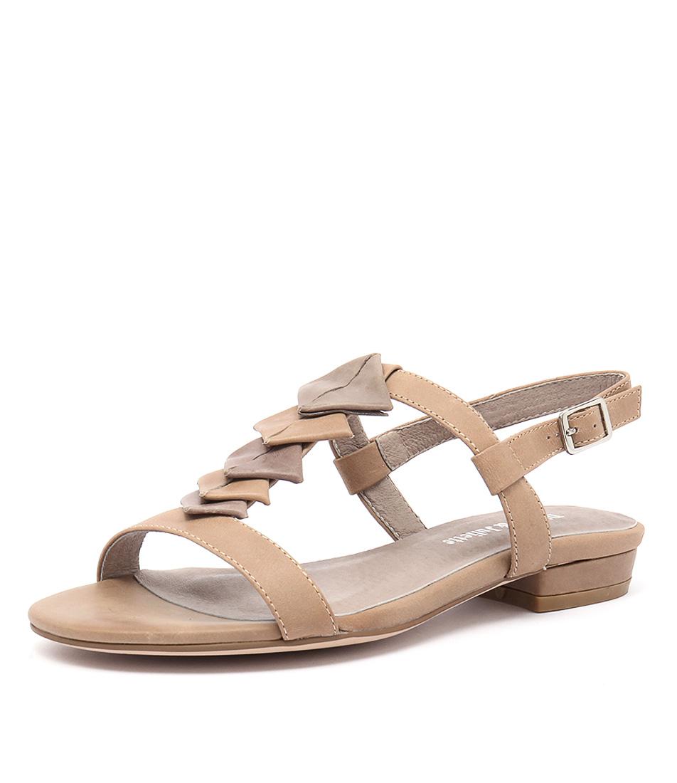 Django & Juliette Doinit Latte-Taupe Leather Sandals